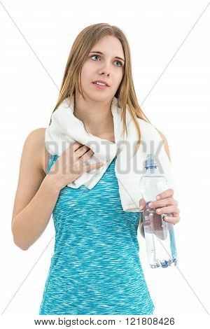 Fitness Woman Tired After Sports