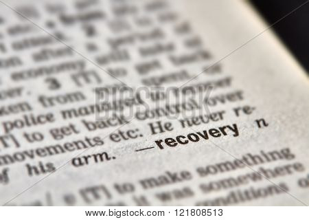 Recovery Word Definition Text