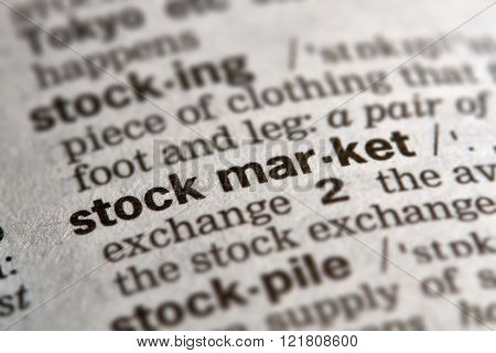 Stock Market Word Definition Text