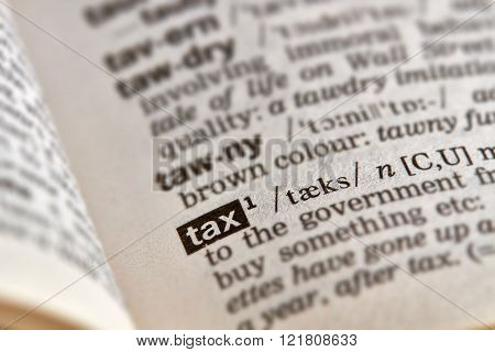Tax Word Definition Text