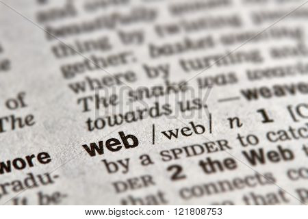 Web Word Definition Text