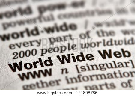 World Wide Web Word Definition Text