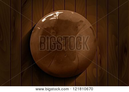 Brown Watercolor Hand Drawn Circle Background