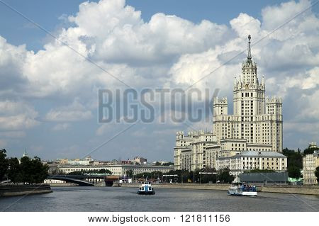 Moscow, Russia - June 11, 2010: Residential Building On Kotelnicheskaya Embankment In Moscow, One Of