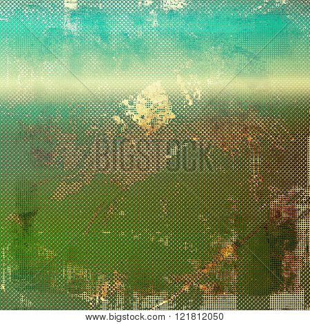 Antique texture with vintage look. With different color patterns: yellow (beige); brown; green; blue; cyan