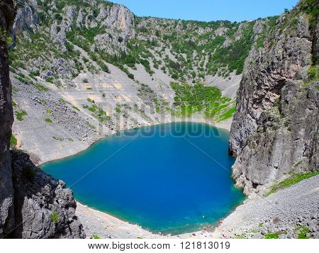 Blue Lake In Croatia.