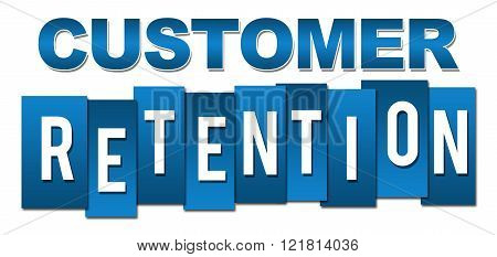 Customer Retention Professional Blue Stripes