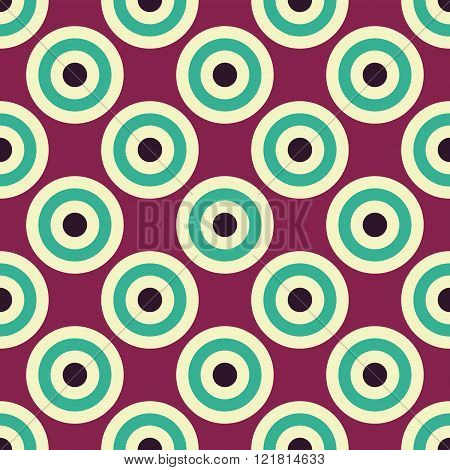 Vector modern seamless colorful geometry circles pattern color abstract
