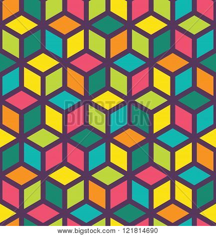 Vector modern seamless colorful geometry pattern color abstract