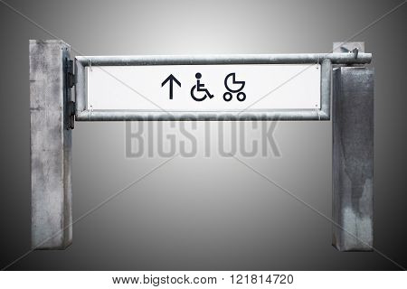 Entrance To The Shop For Physically Challenged Persons And Strollers