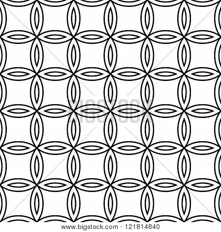 Vector modern seamless geometry pattern floral black and white abstract