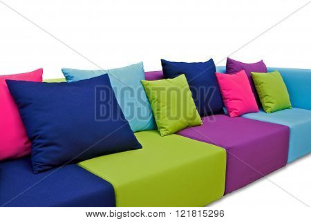 indoor outdoor sofa with pillows and cushions