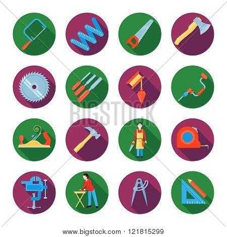 Carpentry Icons Set