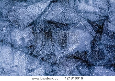 Ice patterns of frozen lake Baikal