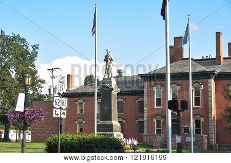 Statue at Millersburg, Ohio