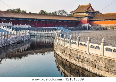 Water Channel In The Imperial Palace In Beijing