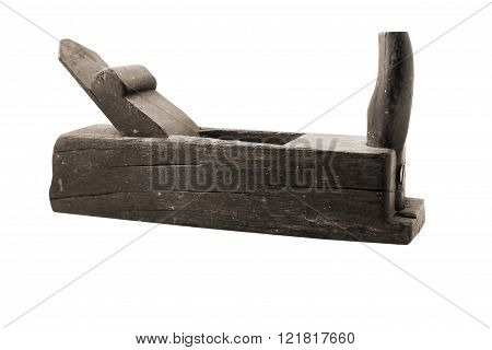 Old Jointer Isolated On A White Background.