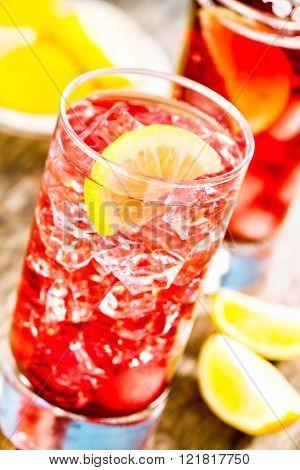 Ice Cold Cranberry Juice
