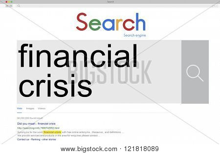 Financial Crisis Depression Recession Downtown Concept