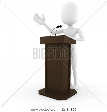 3d man podium speech
