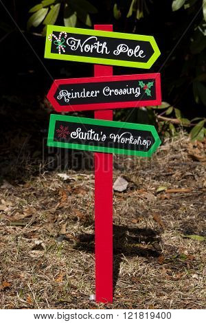 Christmas Directional Sign
