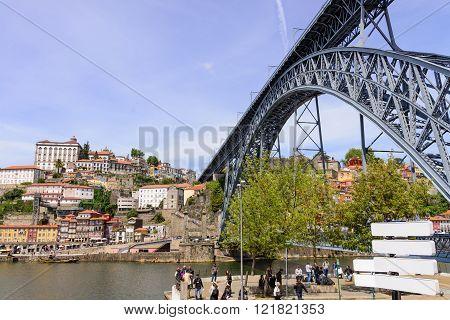 Bridge Dom Louis Over The River Douro, Porto.