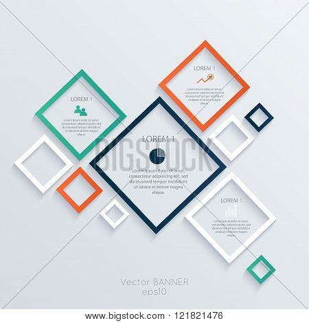 Abstract Digital Illustration Infographic.