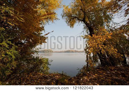 Autumn landscape near the river