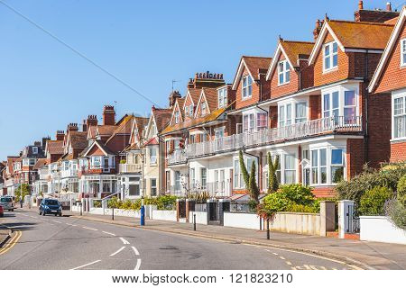 Street In England With Typical Houses