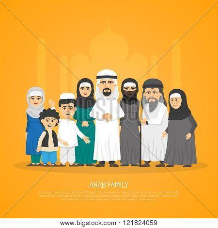 Arab Family Poster