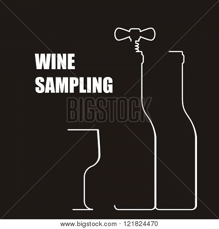 Wine Bottle With Corkscrew - Wine Sampling