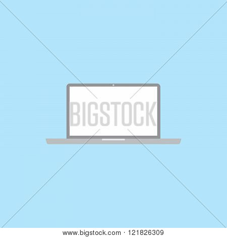 flat laptop icon vector