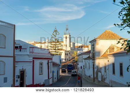 View In Historic Center Of Albufeira, Algarve, Portugal.