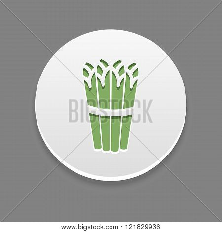 Asparagus Icon. Vegetable Vector Illustration