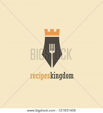 Creative symbol concept for cook book