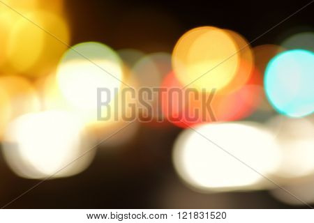 Street lights out of focus - defocused blured background