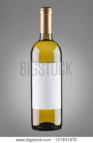 White Wine In Bottle