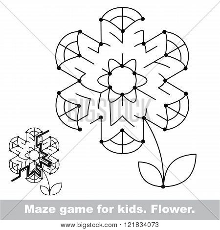 Summer maze game. Search the way. Help to fihd the solution. Kid labyrinth game. Colorless version.