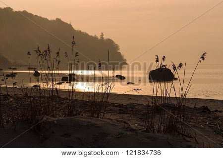 Sunrise On Shore Of The Baltic Sea