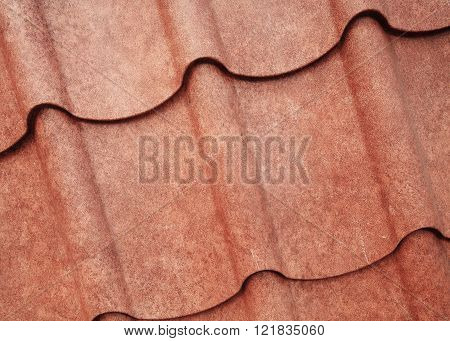 Grunge Brown Sheet Metal Roof Texture