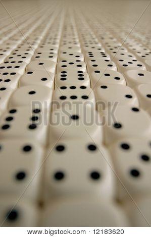 random dice in endless pattern