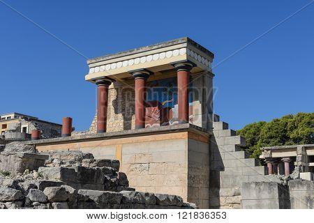 North Entrance of Knossos Palace. Heraklion. Crete.