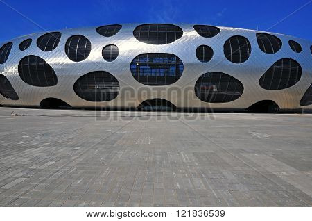 BORISOV BELARUS - APRIL 11: New footbal stadium