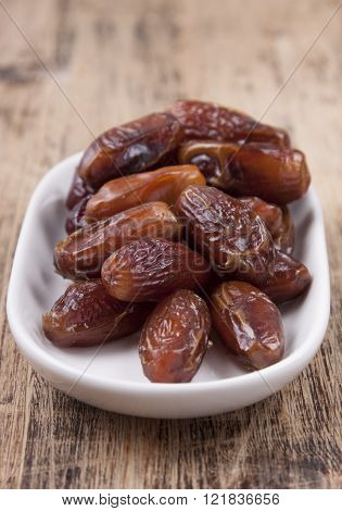 Dried Figs In A White Plate