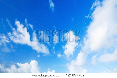 Natural blue cloudy sky. Background photo
