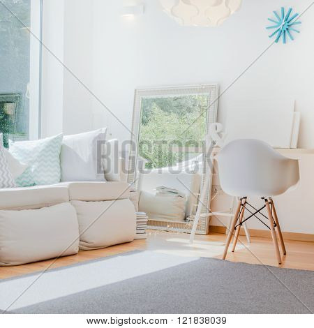 Cosy Interior With Decorative Mirror