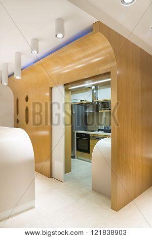 Kitchen Interior In Luxury Apartment