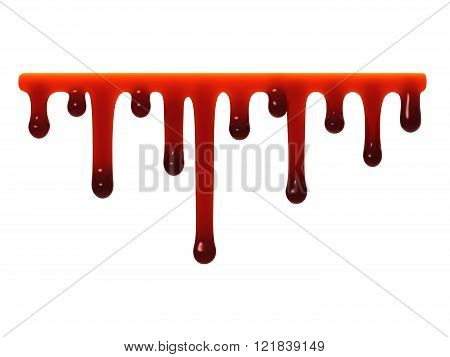 Red Liquid Slime Dripping.