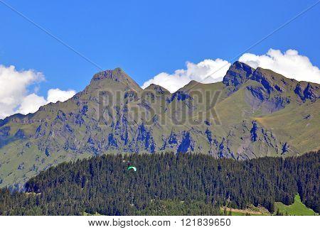 Swiss Alpes. Mountain range in Bernese oberland