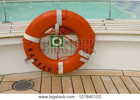 Alaskan cruise ship destination vacation life saving ring